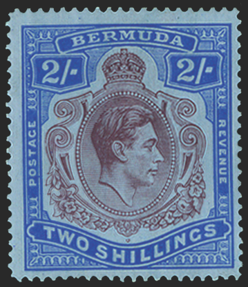 BERMUDA 1938-53 2s deep purple and ultramarine/grey-blue (UNUSED) SG116bc