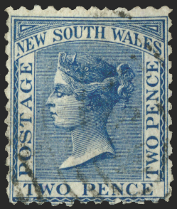 Australia New South Wales 1882-97 2d Prussian blue, SG225b