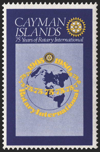 CAYMAN ISLANDS 1980 Rotary 50c, error, SG499a
