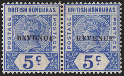 BRITISH HONDURAS 1899 5c ultramarine (UNUSED), SG66a