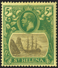 ST HELENA 1922-37 5s grey and green/yellow (UNUSED), SG110a