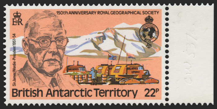British Antarctic Territory 1980 Royal Geographical Society 22p (UNUSED), SG97w