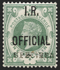 Great Britain 1889 1s dull green I.R. Official, SGO15s