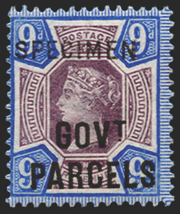 Great Britain 1888 9d dull purple & blue Official, SGO67s