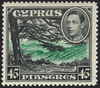 CYPRUS 1938-51 45pi green and black, SG161