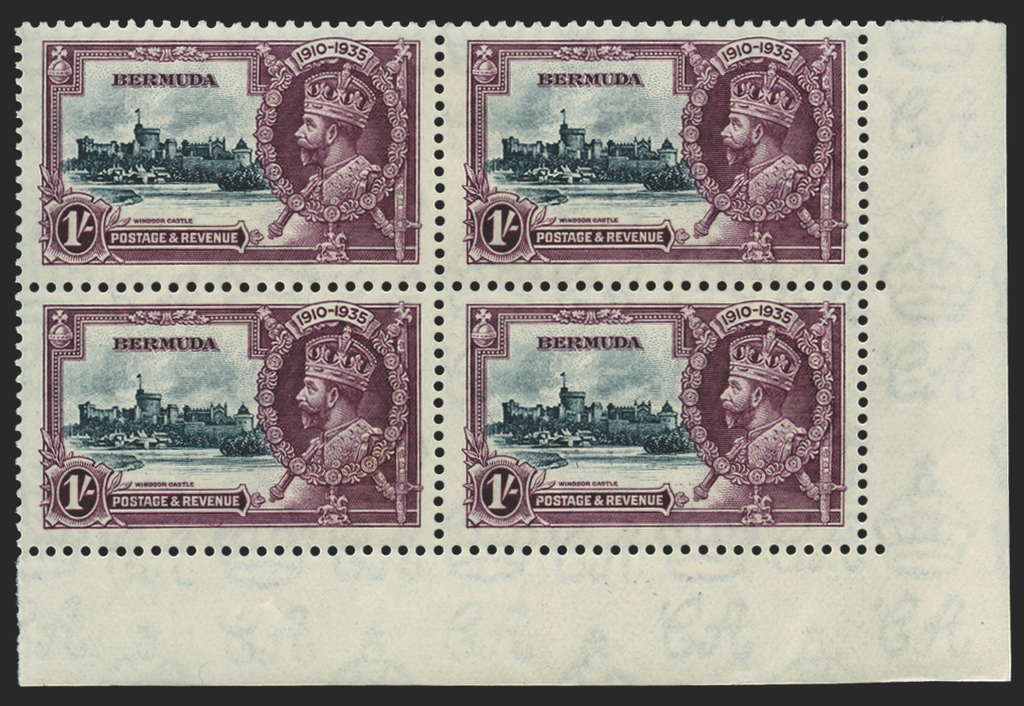 Bermuda 1935 Silver Jubilee 1s slate and purple, SG97k