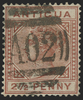 Antigua 1882 2½d red-brown, SG22b