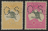 Australia 1915-28 5s grey and yellow, 10s grey and pink, SGO50/1