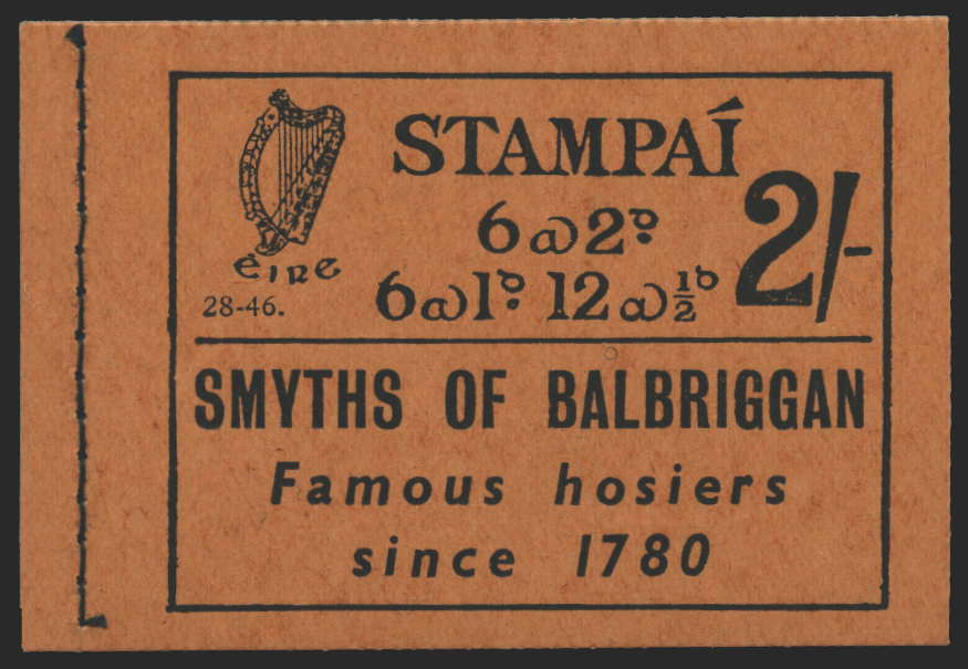 Ireland 1946 2s Booklet, black on buff cover, SGSB6