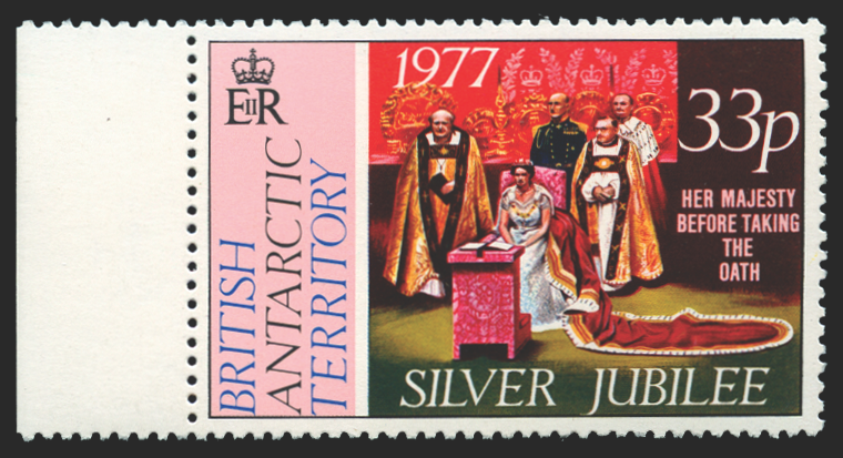 British Antarctic Territory 1977 Silver Jubilee 33p wmk to right, SG85w