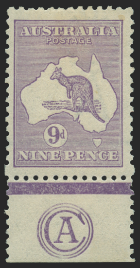 Australia 1915-27 9d violet, die II monogram single, SG39