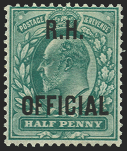 Great Britain 1902 blue-green ½d R.H. Official, SGO91