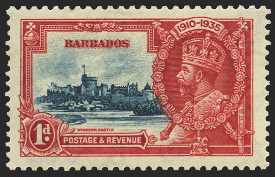 Barbados 1935 Silver Jubilee 1d deep blue and scarlet, SG241j