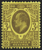 Great Britain 1911 3d purple/lemon, SG277
