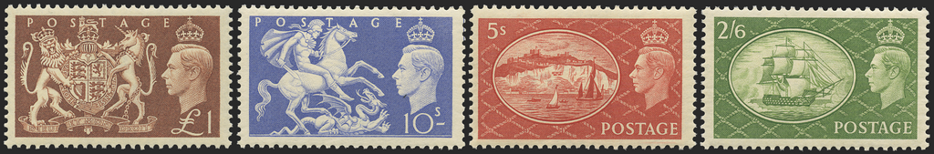 "Great Britain 1951 2s6d-£1 ""Festival"" High values, SG509/12"