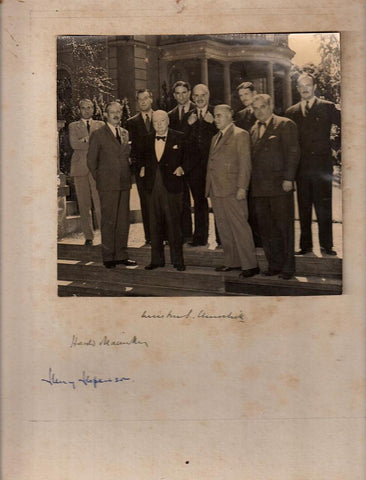Winston Churchill signed Council of Europe photograph