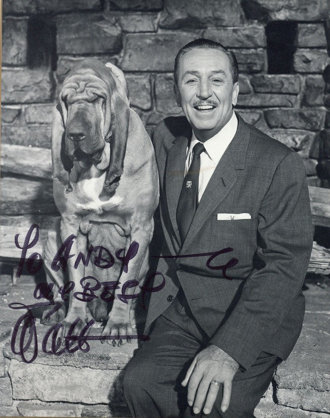 Walt Disney Black & White Signed Photograph