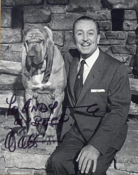 Walt Disney Signed Photograph