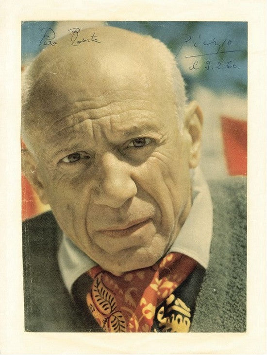 Pablo Picasso Signed & Inscribed Magazine Photograph