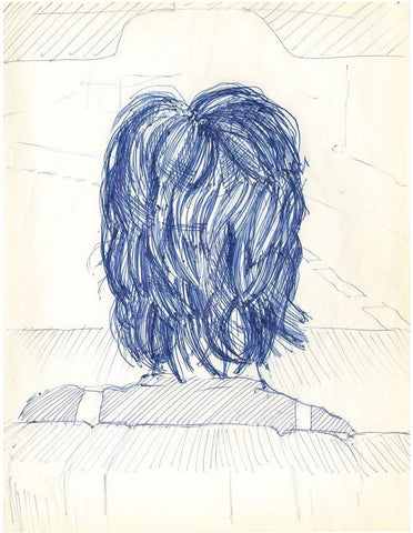 Ronnie Wood sketch of Jeff Beck