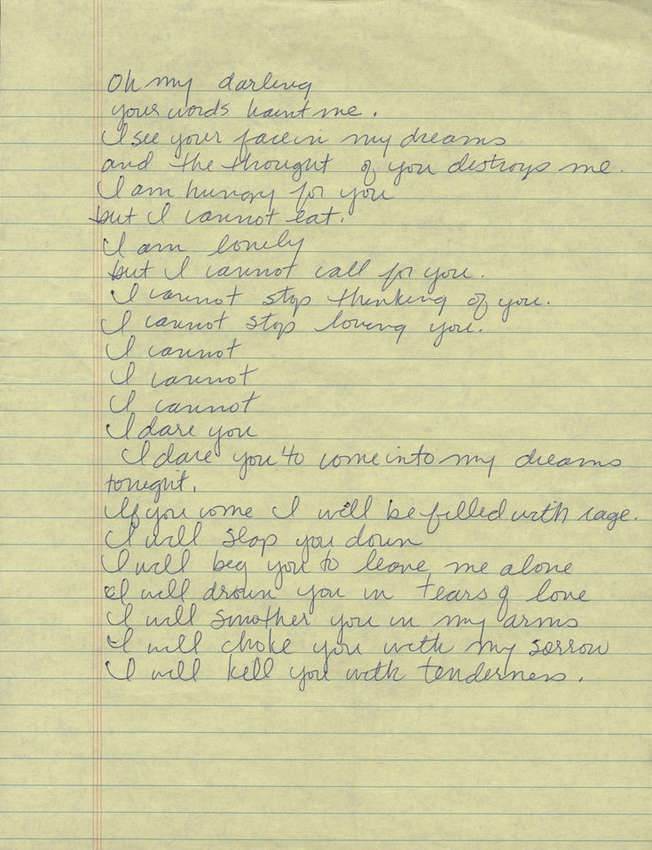 Madonna handwritten song lyrics
