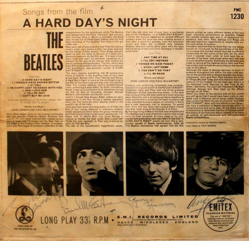 The Beatles Signed Hard Days Night
