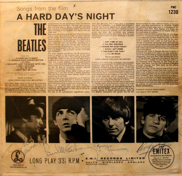 The Beatles Signed A Hard Days Night Album Cover