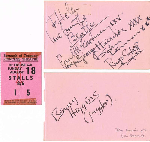 The Beatles Autographs