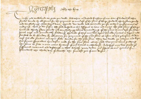 King Henry VIII Autographed Document