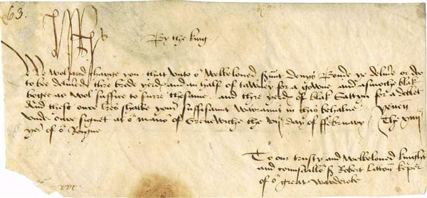 King Henry VII Autographed Historical Document