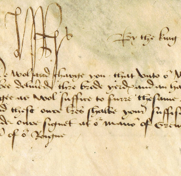 King Henry VII autograph