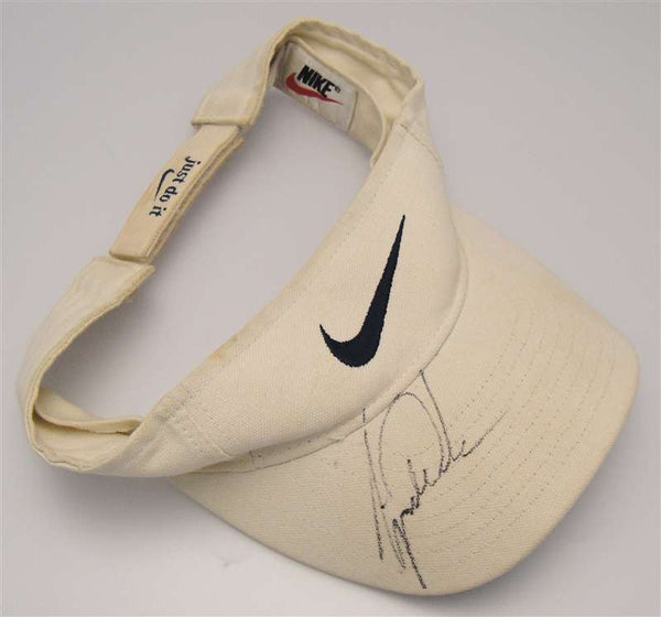 Tiger Woods Autograph on Golf Sun Visor