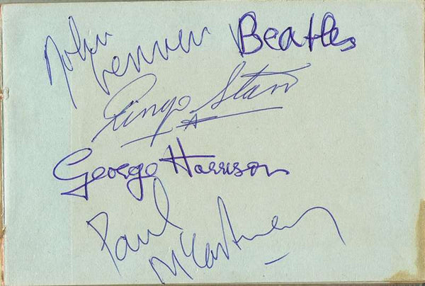 The Beatles Autographed Album Page