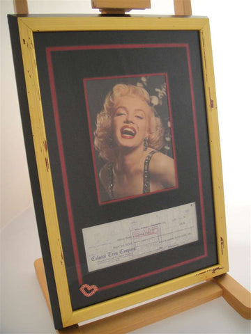 Marilyn Monroe Autographed Cheque