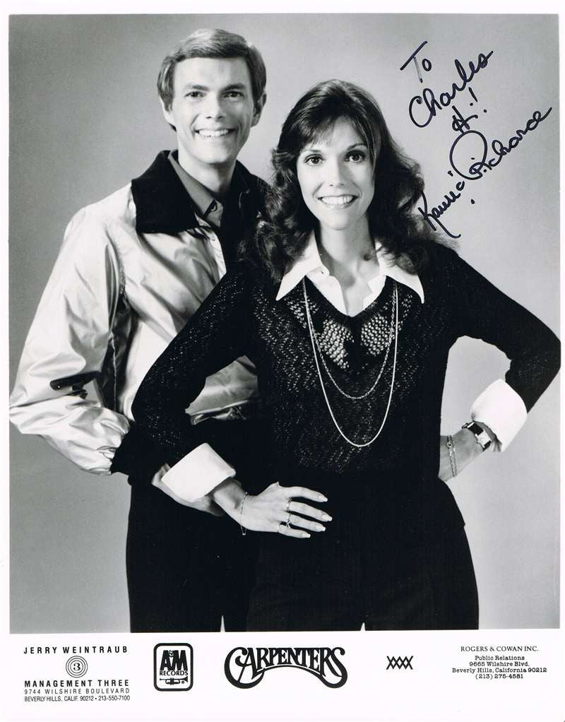 The Carpenters Autographed Photograph