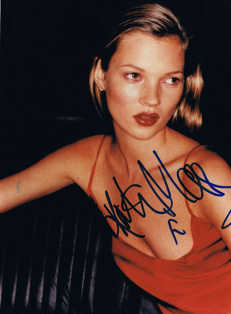 Kate Moss Autographed Photograph