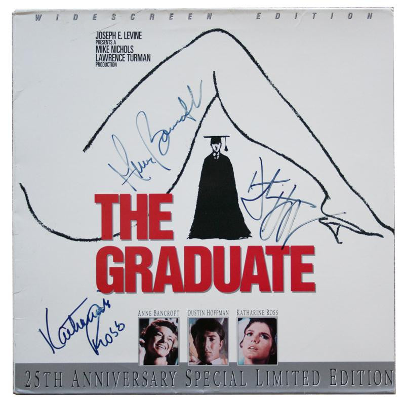The Graduate Cast Autographed LaserDisc Cover