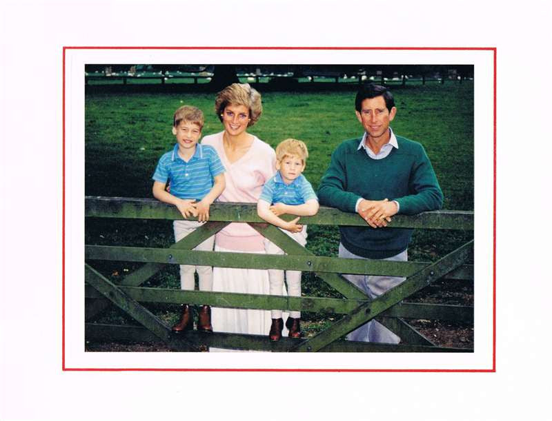 Princess Diana & Prince Charles Autographed Greetings Card