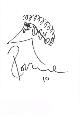 Ronnie Wood Autographed Original Sketch