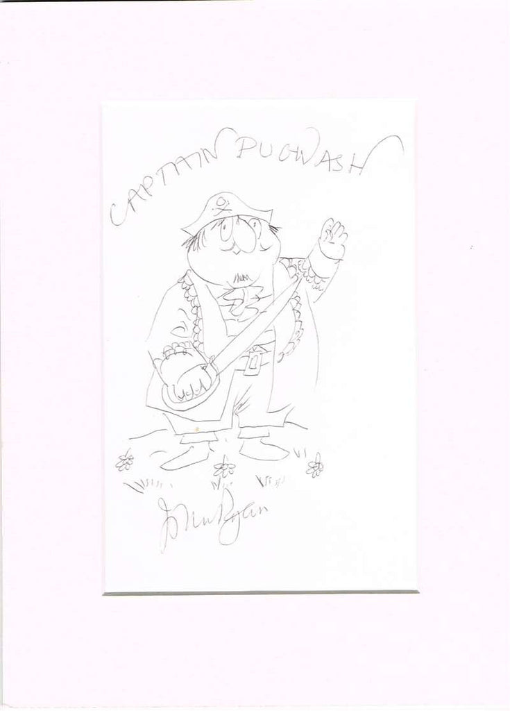John Ryan Autographed Sketch of Captain Pugwash