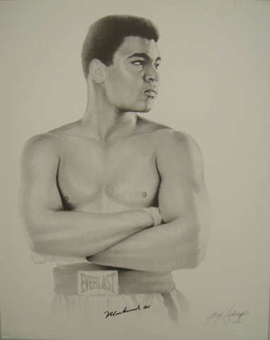 Muhammad Ali autograph on sketch