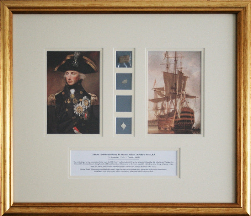 The Trafalgar Collection of historical Lord Nelson & HMS Victory artefacts