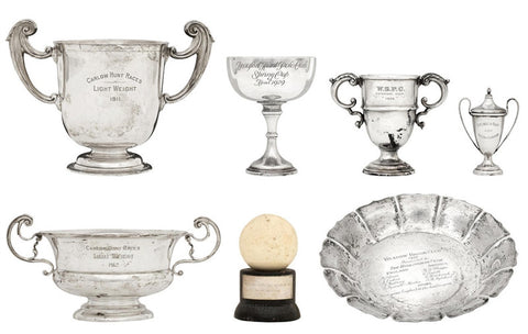 A large collection of polo trophies and photo archive