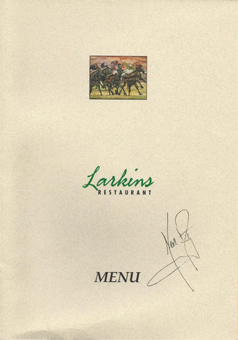 Neil Armstrong Signed Menu