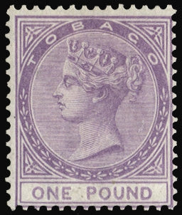 Tobago 1879 £1 mauve (Unused) SG6
