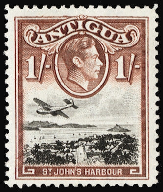 Antigua 1938 1s black and red brown (Unused) SG105ab