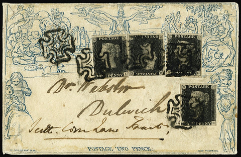 Great Britain 1840 2d Mulready envelope SGME4,2