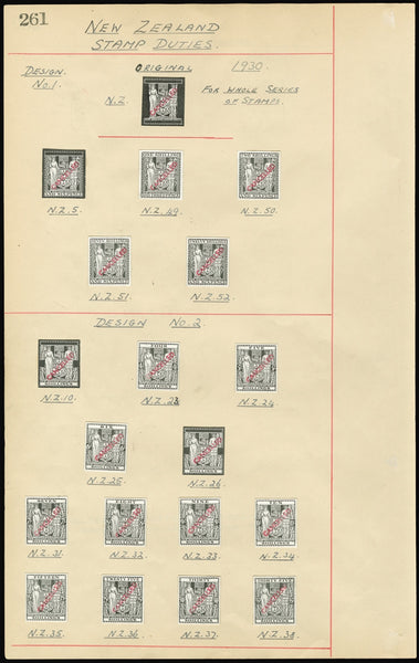 New Zealand 1930 series of 36 die proofs (SGF145/68a)