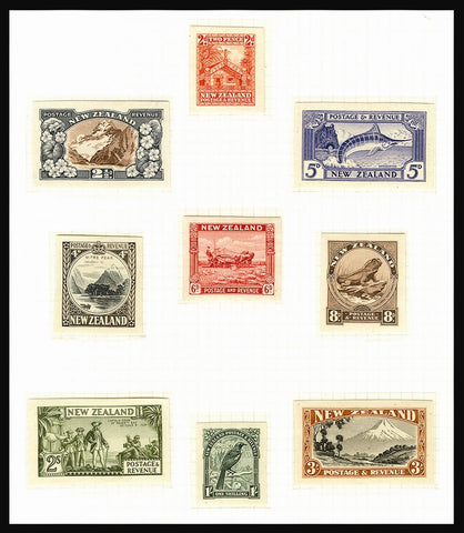 New Zealand 1935 (1 May) 'Second Pictorial' die proofs (SG559/69)
