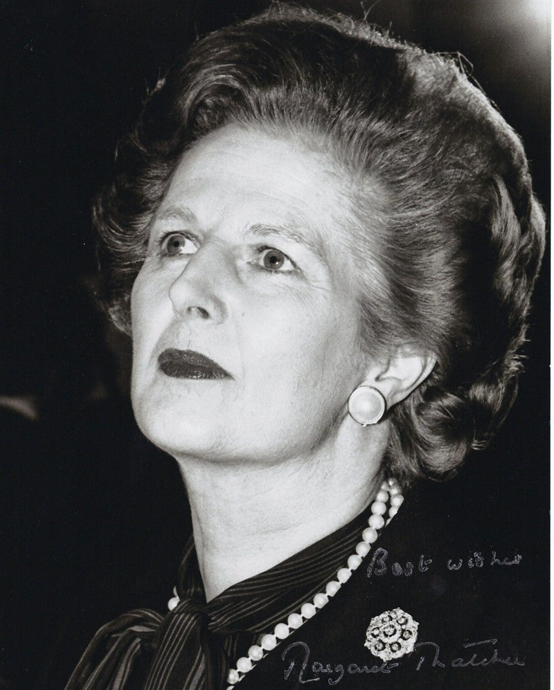 Margaret Thatcher signed photograph